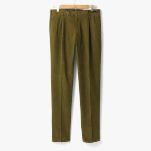 [PT01] SLIM FIT 1 PENCE COTTON PANTS OLIVE/PT92M30005A94