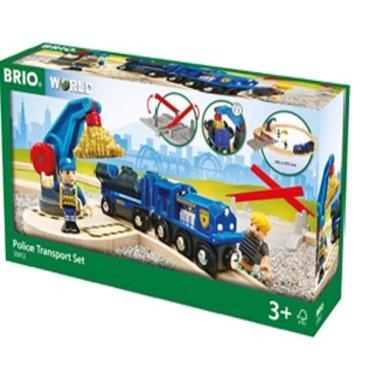브리오-경찰운송기차 세트-33812