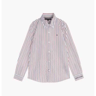 코튼 클래식 스트라이프 셔츠( T41J7HSH056BT1)