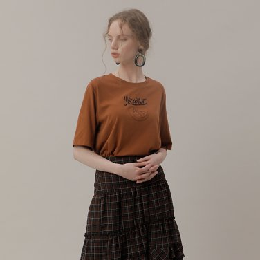 모던 엠브로더리 티셔츠(NW9AE718)
