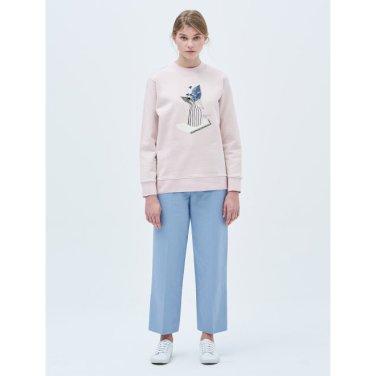 라이트 핑크 패치 원포인트 스웨트 셔츠 (BF9141U01Y_)