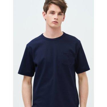 [Online Exclusive] Unisex 네이비 오버사이즈 포켓 티셔츠 (BC9342N06R)