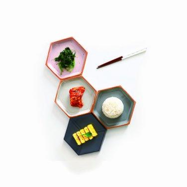 박스플레이트M : 육각양면접시, 앞접시 겸 찬기