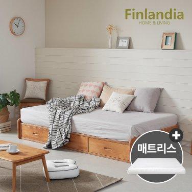 핀란디아 탠디 베이직 슈퍼싱글침대SS(서랍형)+코튼매트리스