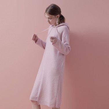 램스 울 후디 드레스(NK9SO131)