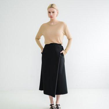 Button Wrap Skirt Black(BSSK320_02)