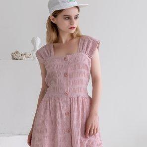 Back Ribbon Sleeveless Dress Pink(2019SUOP320_06)