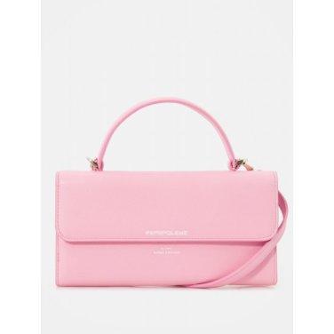 브라운 빈 스트랩 월렛백- Light pink (BE02A4M81Y)
