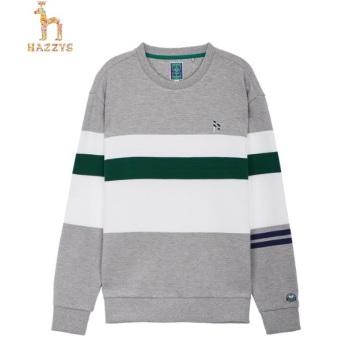 헤지스 컬러배색 면 긴팔티셔츠(HZTS0A002G2)
