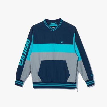 공용 컬러 블락 재킷 블루그린 11934868
