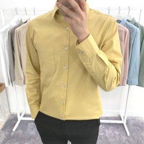 남성 봄 가을 베이직 파스텔 컬러 댄디 셔츠_SH0168