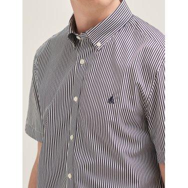 네이비 스트라이프 베이직 반소매 셔츠 (BC9465A13R-J)