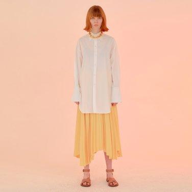 Folded Pleats Skirt_Soft Yellow (JC20SSSK32SY)