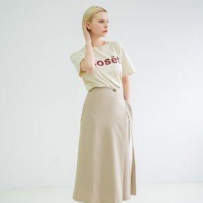 Button Wrap Skirt Beige(BSSK320_01)