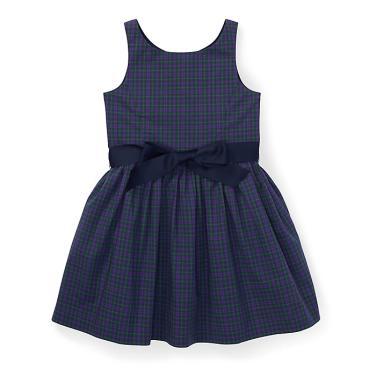 폴로 랄프 로렌 베이비 플래드 핏앤플레어 드레스(CWPODRSO3M10161D70)