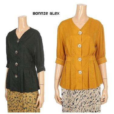 단추포인트 퍼프소매 셔츠(BCSC4027)