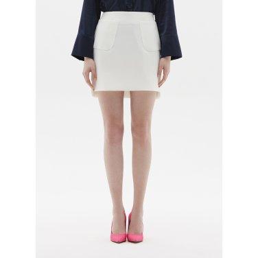 pocket skirt white ST02