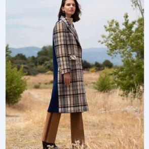 [아바몰리]6042 Daria check double coat (19FWAVA23)