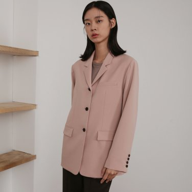 19AU THREE BUTTON OVER JACKET (PINK)