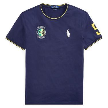 폴로 랄프 로렌 커스텀 슬림 핏 브라질 티셔츠(MNPOTSH1N810240B82)
