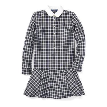 폴로 랄프 로렌 칠드런 플래드 포플린 드레스(CWPODRSG3M10159B90)