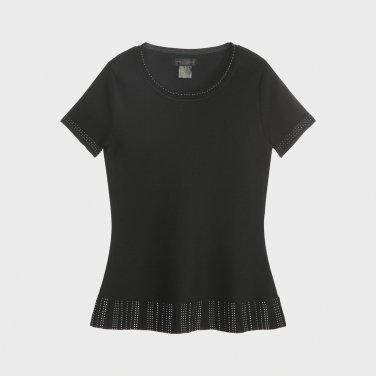크루넥 트라페즈 스타일의 티셔츠(DW1J1KTO212C)