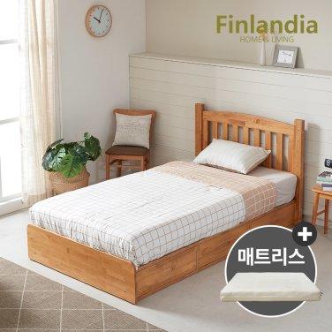 핀란디아 탠디 슈퍼싱글침대SS(서랍형)+코튼매트리스