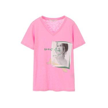 브이넥 라이트 티셔츠(NW9ME307)