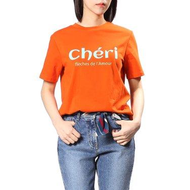심플 레터링 티셔츠 OW9ME365-EL3