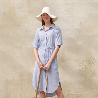 ROMANTIC ROBE LONG OPS_SKY BLUE