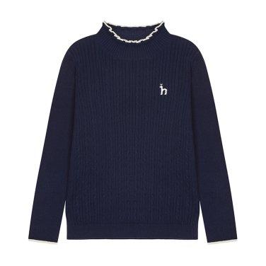 골지 스웨터 집업/HPW11KT61M-NV