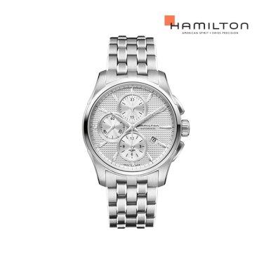 H32596151 재즈마스터 오토크로노 실버 메탈 남성 시계