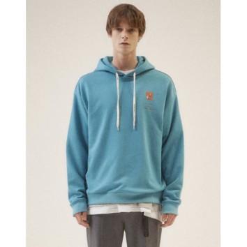 블루 이그나시 아트웍 와펜 후드 티셔츠 JNTS0B622B2