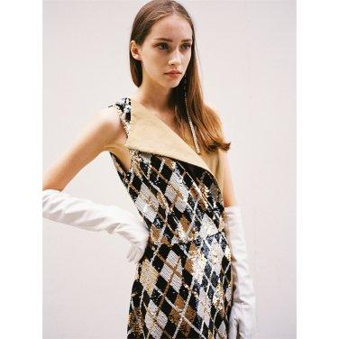 [더애쉴린]JOSEPHINE ARGYLE SEQUINED TRENCH DRESS