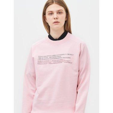 [Online Exclusive] 라이트 핑크 베이직 그래픽 스웨트 셔츠 (BF9241N02Y)
