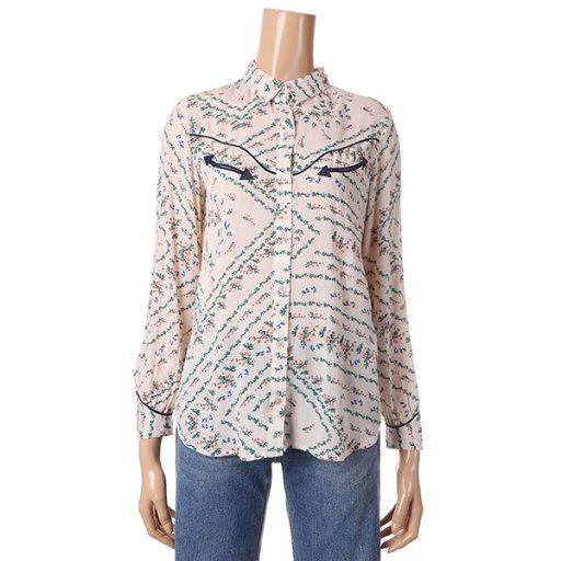 [여성]웨스턴 컨셉 셔츠형 블라우스(T192MBL140W)