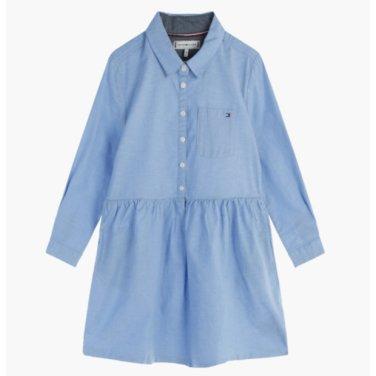 면혼방 클래식 솔리드 셔츠 드레스(T41J7RDR038GT2)