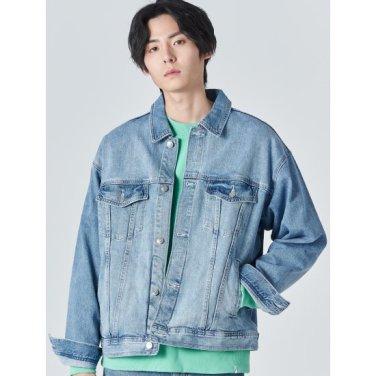 남성 블루 버튼업 포켓 데님 재킷 (420139LP1P)