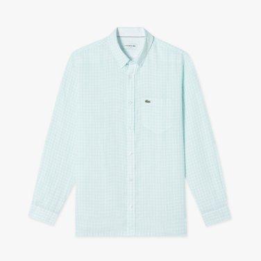 깅업 체크 린넨 셔츠 (CH7095-19B)
