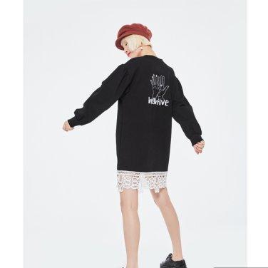[블랭크]HIGH FIVE LACE DRESS-BK (19FWBLK01E)