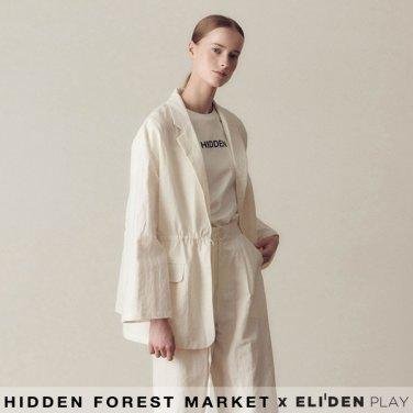 [히든포레스트마켓] Linen Belted Jacket_White (Z3HRJ5JK001.WH)