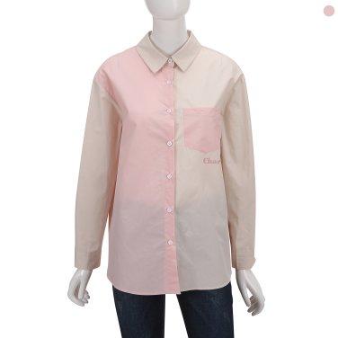 오버핏 칼라배색 레터링셔츠 IW9SB2560
