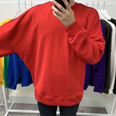 남성 오버핏 데끼 가오리핏 맨투맨 티셔츠_T0399