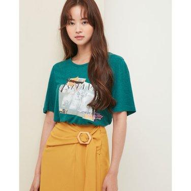BACK 꼬임 포인트 티셔츠 EK3CH761