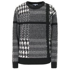 리버클래시(DG) 블랙 체크 패턴 니트_LFW51336
