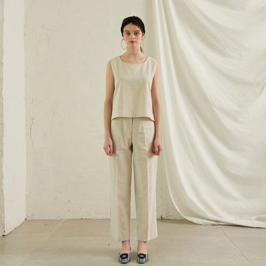 Abell Cotton Wide Pants _ Cream