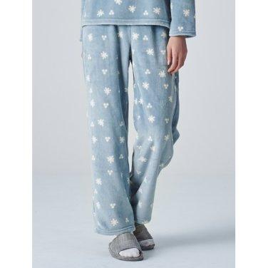 여성 [파자마 시리즈] 스카이 블루 패턴 수면 파자마 팬츠 (158X21SYAQ)