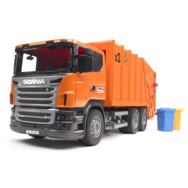[브루더] 스카니아 청소차 (오렌지) BR03560