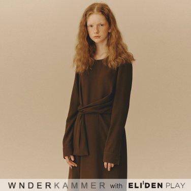 [분더캄머:WNDERKAMMER] Waist Belted Dress_Khaki (WK9F9-WBOP020)