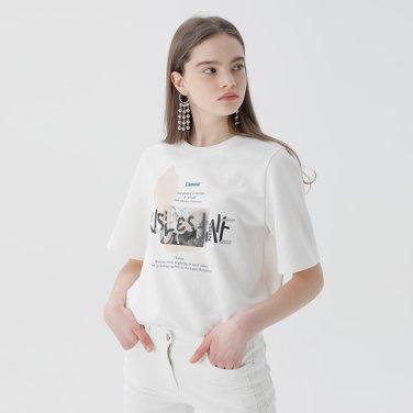 레터링 스팽클 티셔츠(NW9ME703)
